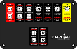 Guardian Emergency Vehicles, Type 2 Module Switch.