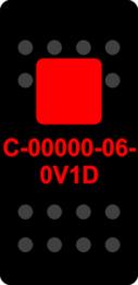 Black Switch Cap single Red Len's, ON-OFF