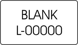 Blank Legend Insert, L-00000