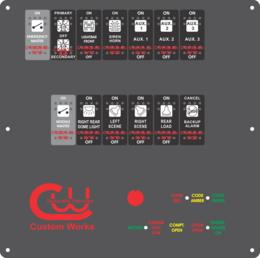 Ambulance Dash Switch & Code Lights