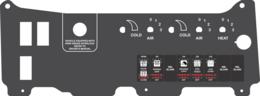 PT Freightliner, Dual A/C Controls w/ Heat
